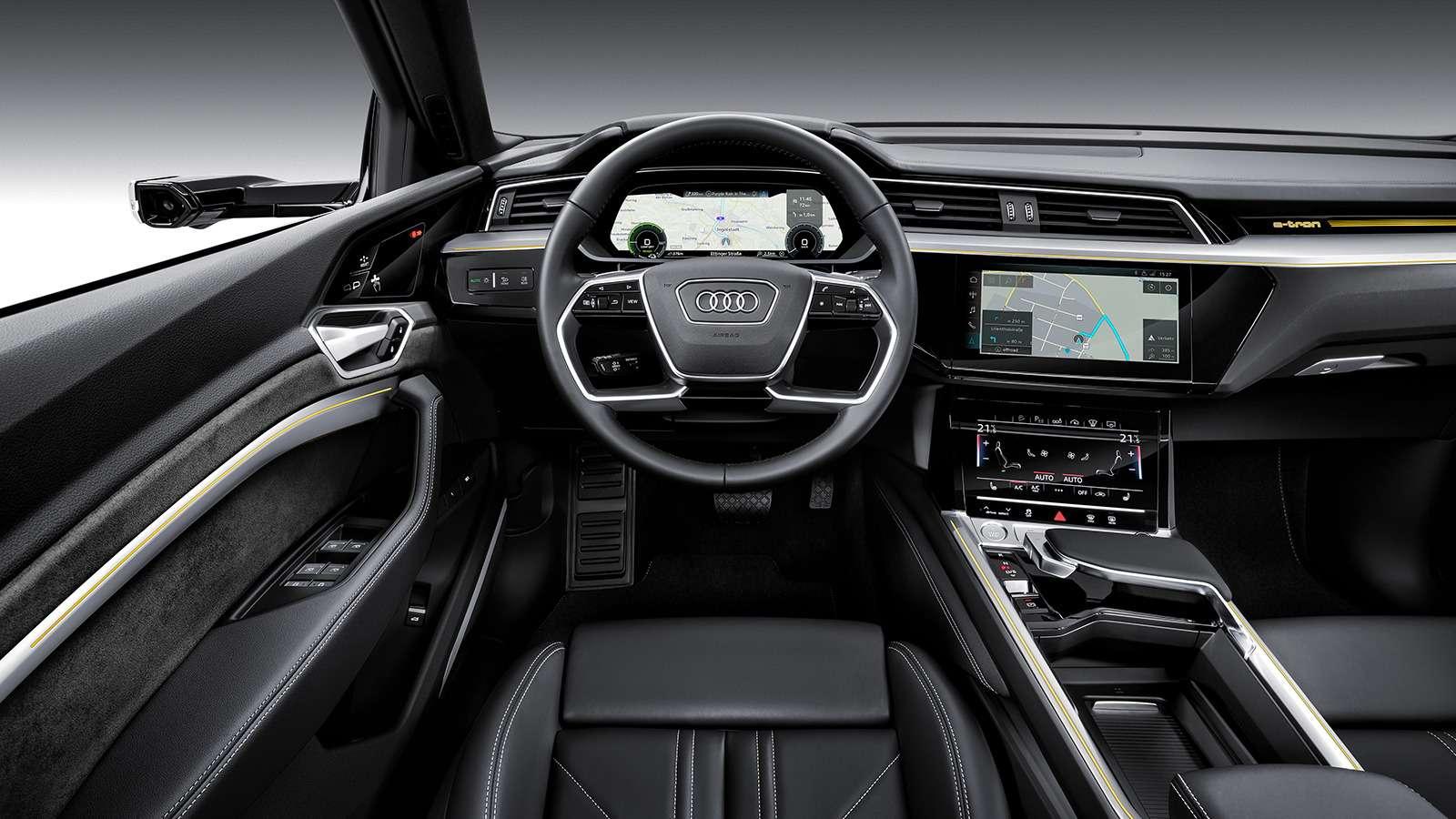 Audi e-tron quattro: два электромотора икамеры вместо зеркал— фото 910475