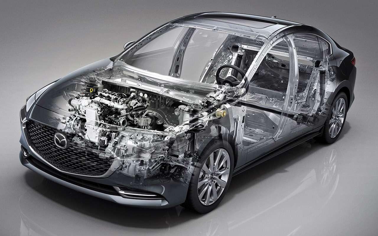 Новая Mazda 3: как японцы скрестили бензиновый мотор сдизельным— фото 934468