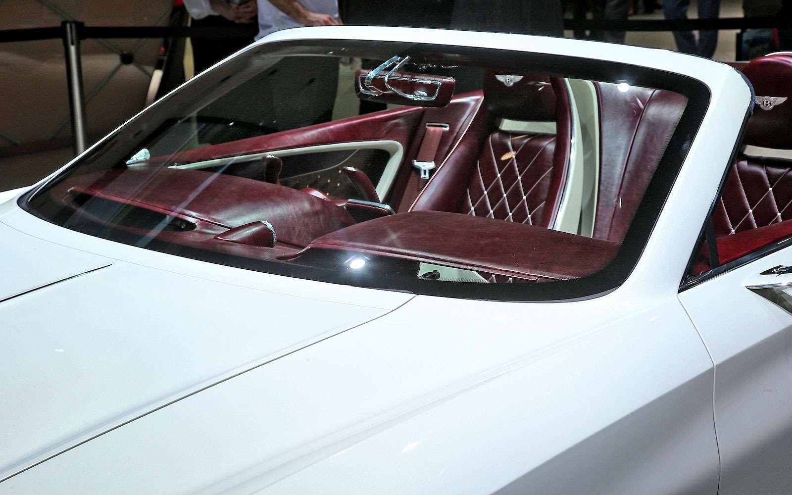 Безвредная красота: Bentley показала родстер EXP 12Speed 6e— фото 718273