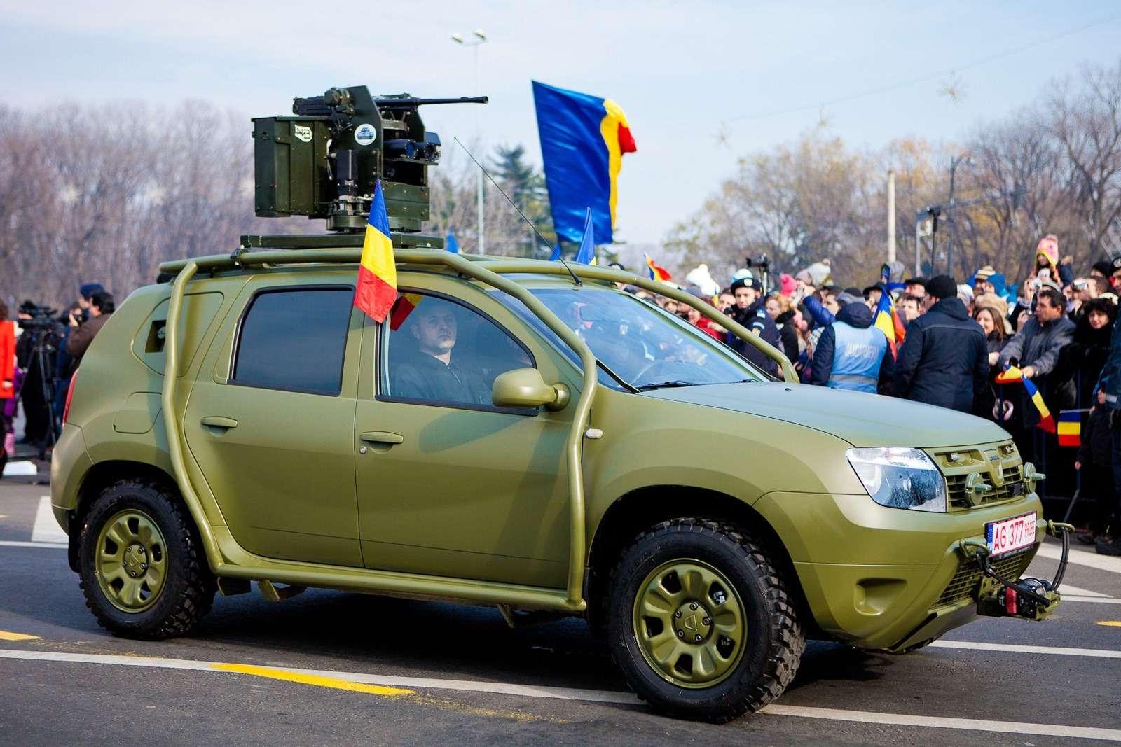 В Румынии показали военный вариант Dacia Duster