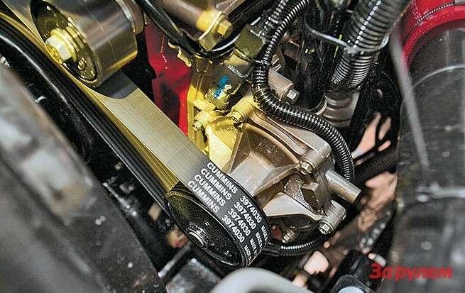 Cummins ISF 3.8 короче минского мотора на100-150 миллиметров