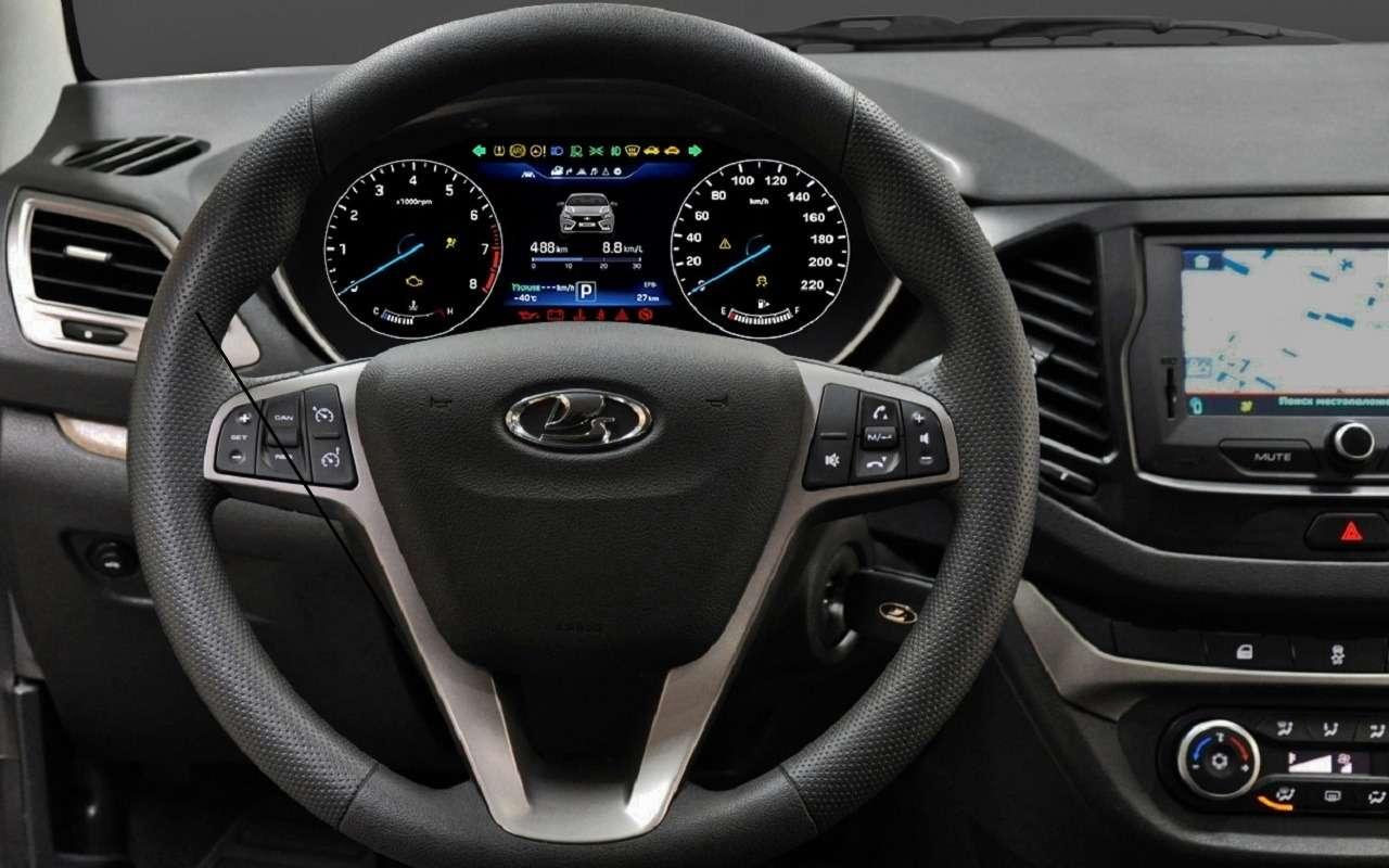 Представлена цифровая панель приборов Lada Vesta— фото 1123045