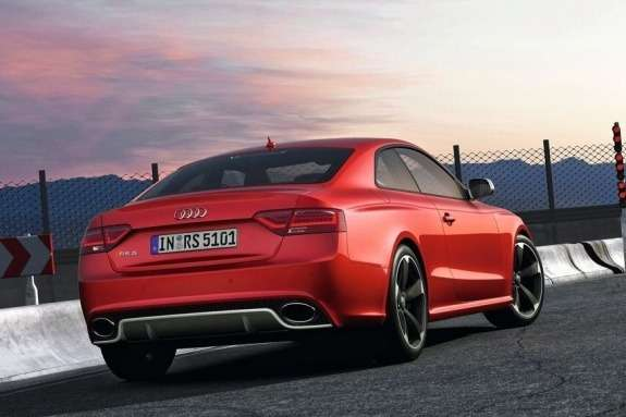 Restyled Audi RS5 side-rear view