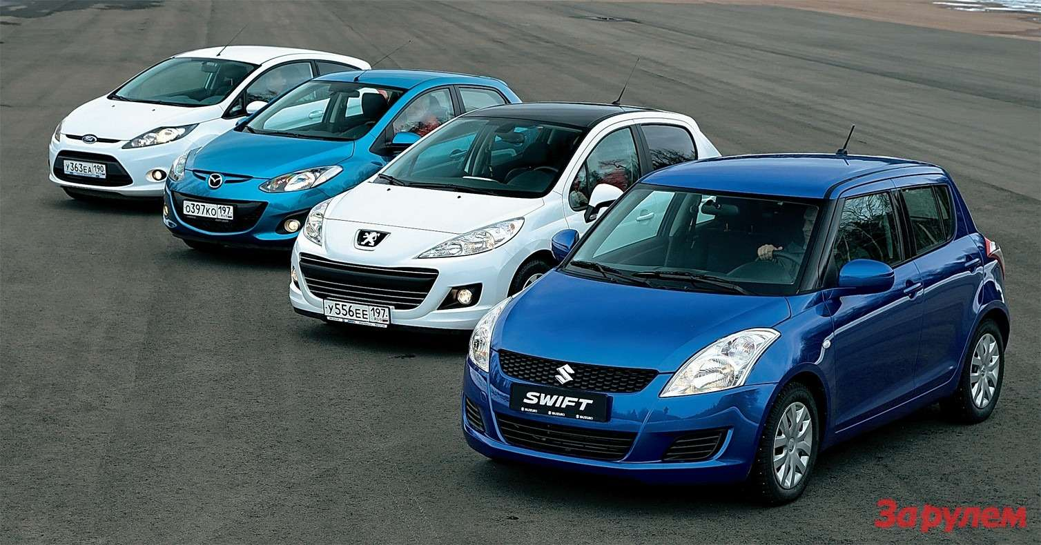 Suzuki Swift, Peugeot 207, Mazda 2, Ford Fiesta