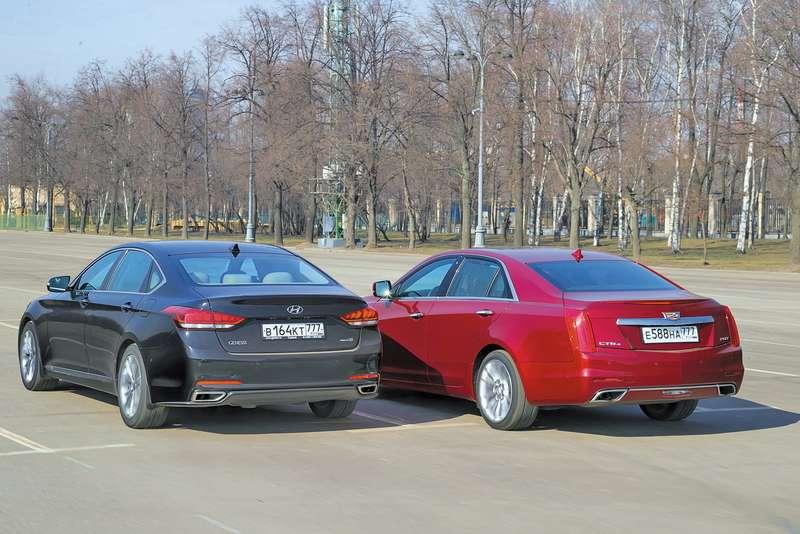 Cadillac CTS иHyundai Genesis