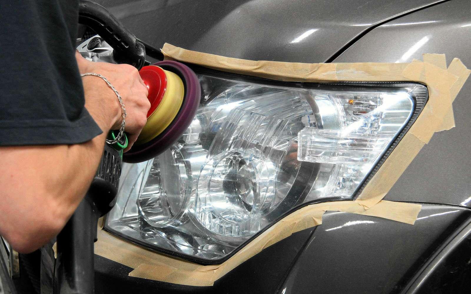 Чем полировать стеклянные фары