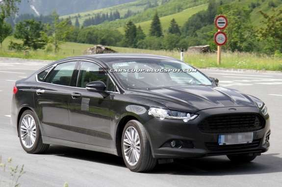New European Ford Mondeo test prototype side-front view