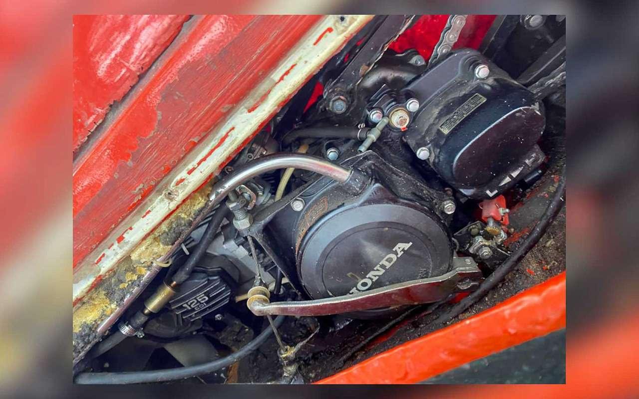 Раритетный мотовездеход-амфибия смотором Honda— фото 1250487