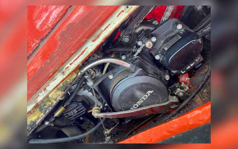 Раритетный мотовездеход-амфибия смотором Honda