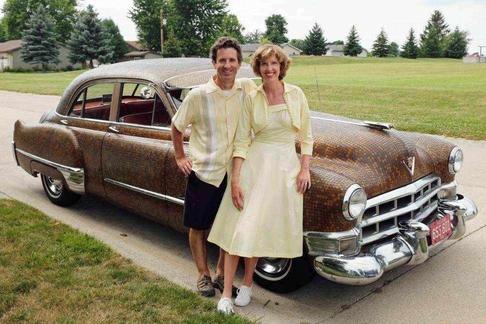 Cadillac 1949 года украсили 30тысячами монет