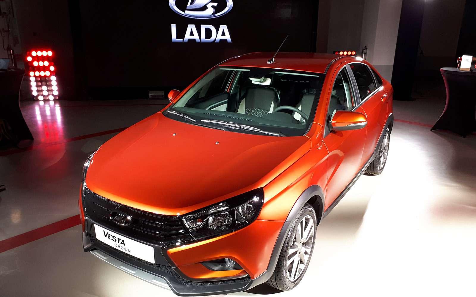 Седан Lada Vesta Cross: производство началось. Когда его ждать впродаже?— фото 863336