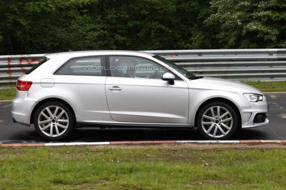 Audi S3 test prototype side view