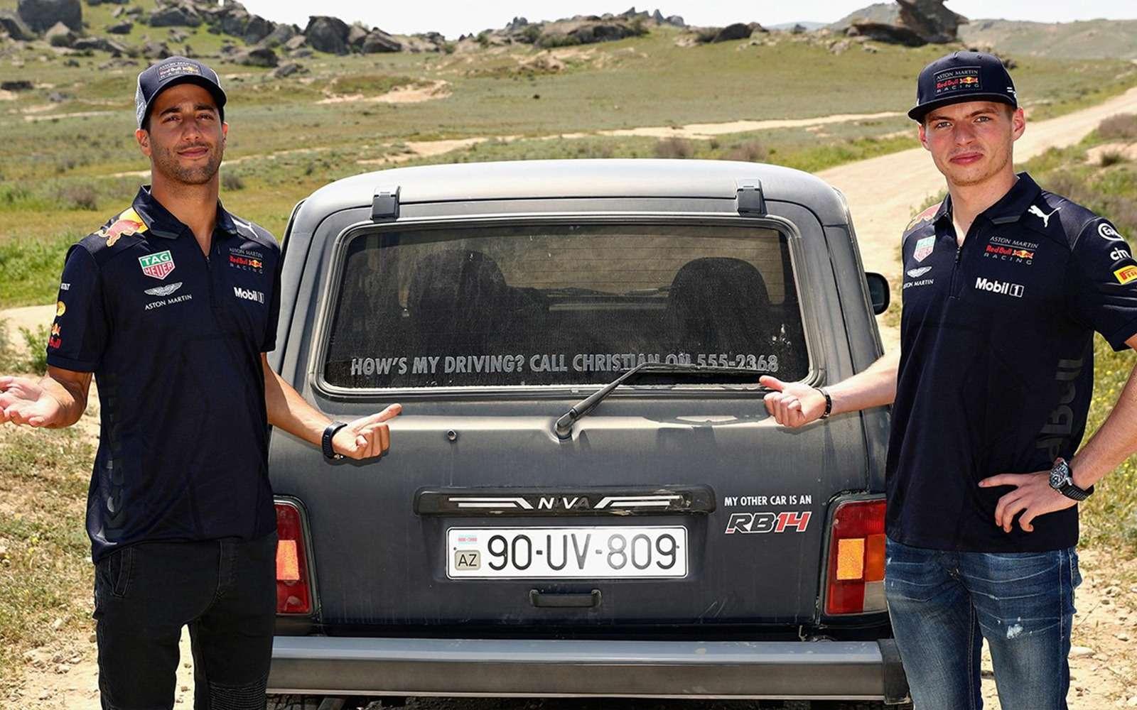 Пилоты Red Bull Racing оценили российскую Ниву— фото 866355