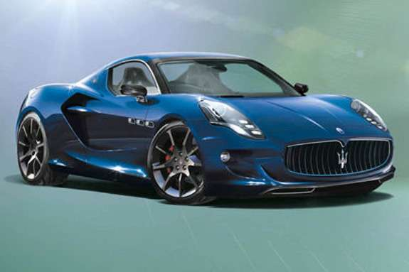 NewMaserati GranSport rendering byEvo Magazine side-front view