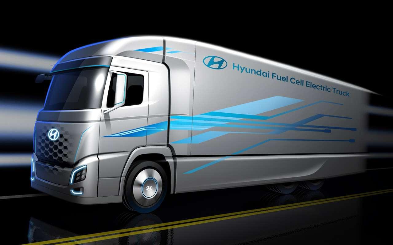 Исполины дорог: Volvo иHyundai показали грузовики будущего— фото 905001
