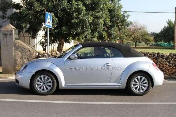 Volkswagen Beetle Convertible test prototype side view