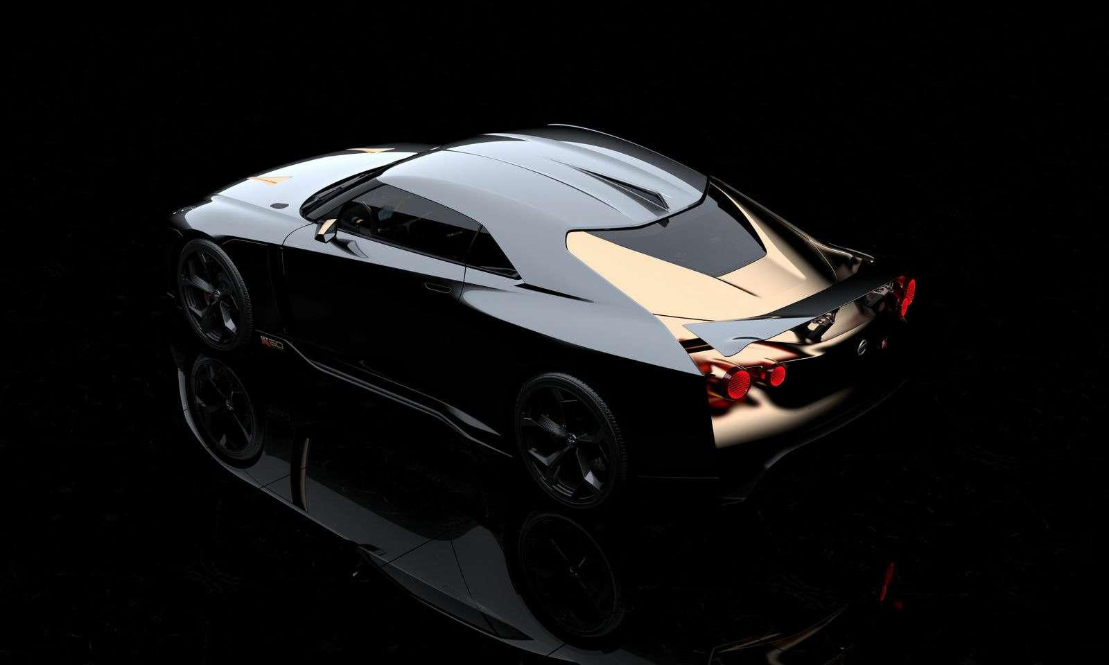 Золотой стандарт: Nissan иItaldesign представили юбилейный GT-R— фото 882715