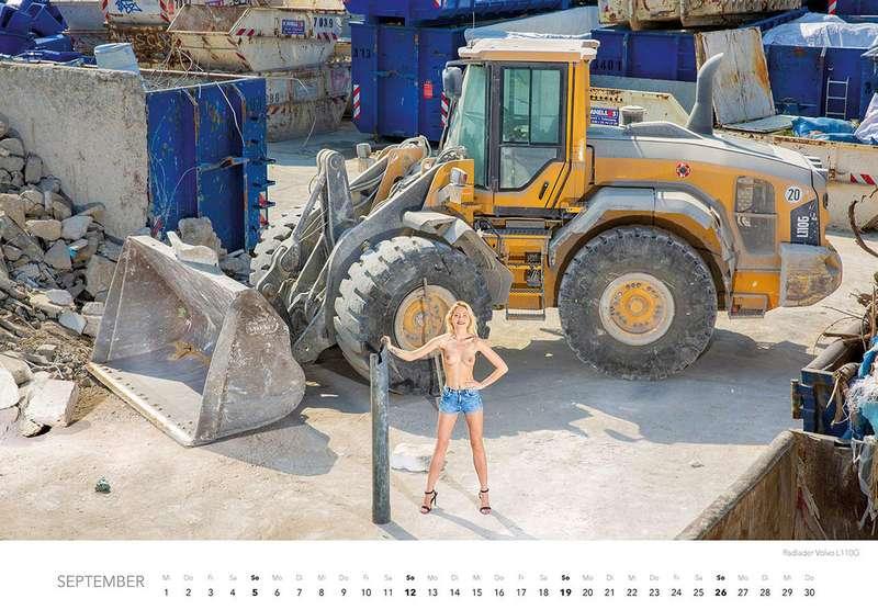 Календарь-2021: юные красотки итяжелая техника