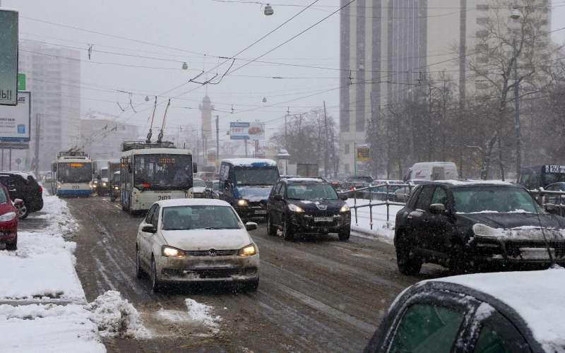 городские дороги зимой