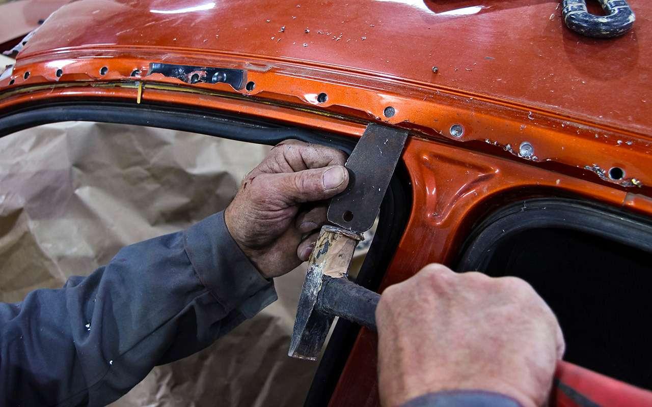 Бюджетный кузовной ремонт, или Как мывосстанавливали Калину после переворота— фото 901689