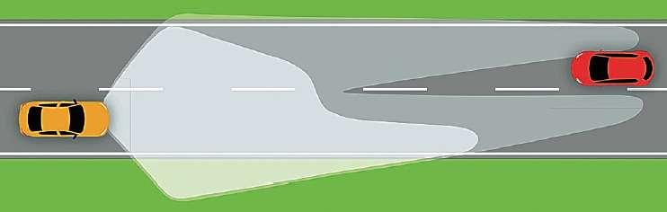Система «Фольксвагена» умеет «вырезать» изсветового потока одиночные встречные авто, что позволяет оставаться врежиме дальнего света.