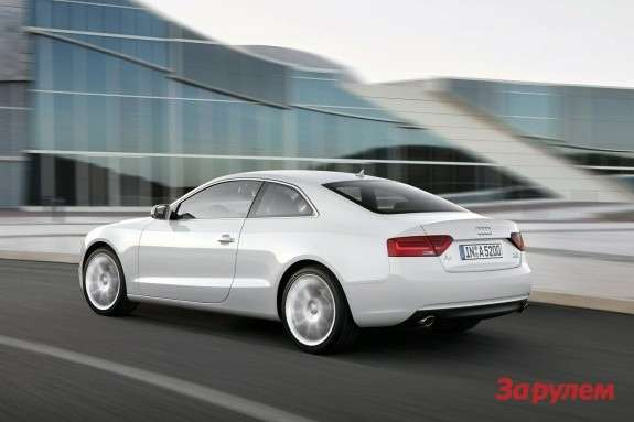 Audi A5 Coupe side-rear view