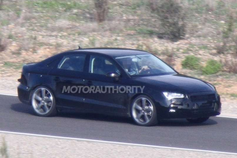 Audi A3 sedan test prototype side-front view_no_copyright