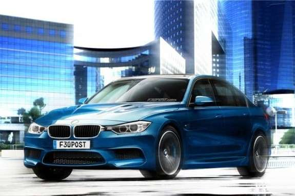BMW M3 rendering side-front view