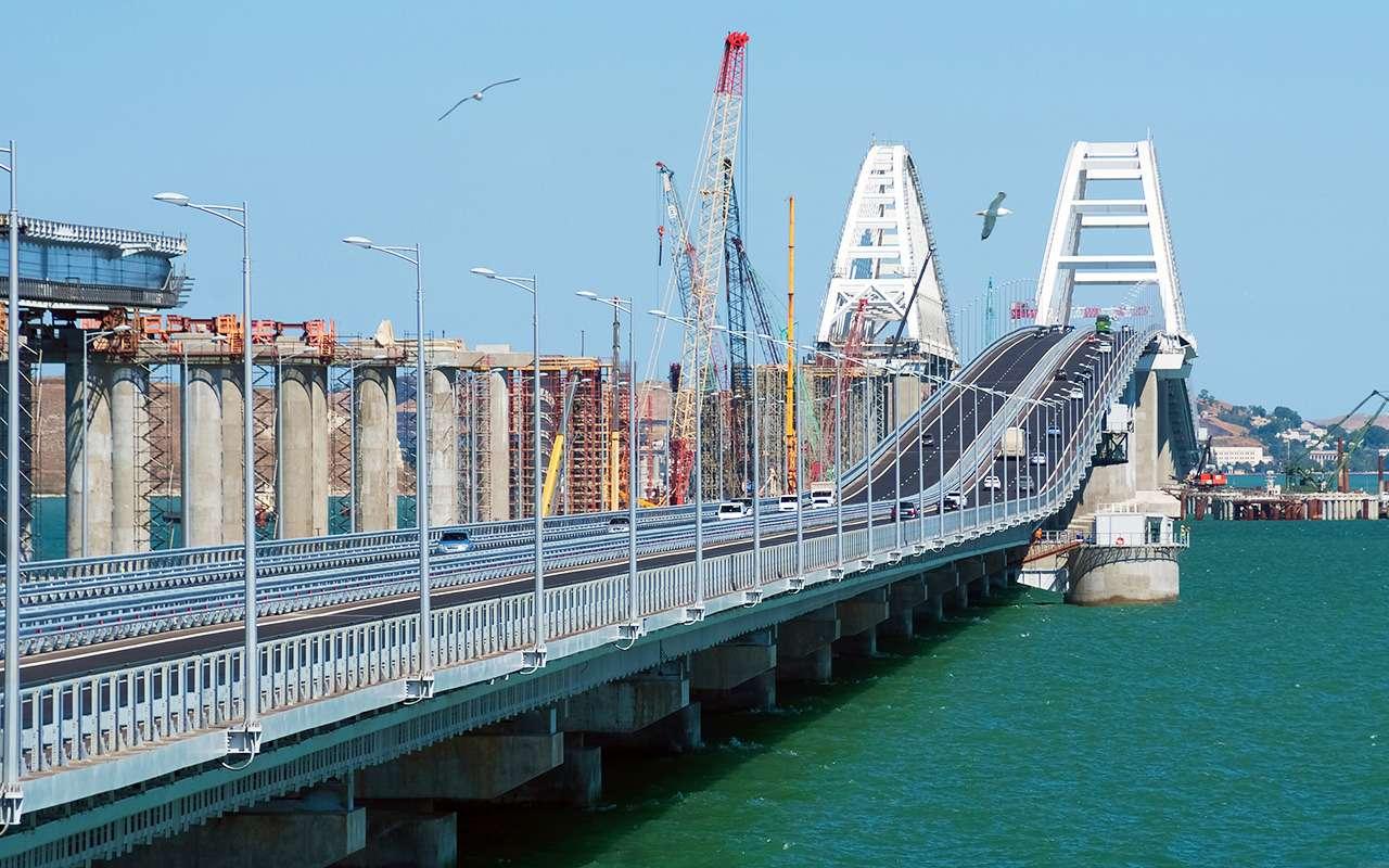 Крымский мост— есть первые рекорды!— фото 883487