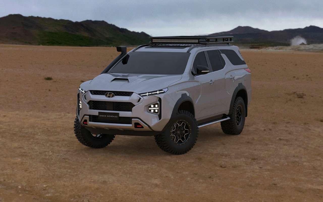 Рамный внедорожник Hyundai: вот как онмогбы выглядеть— фото 1168147