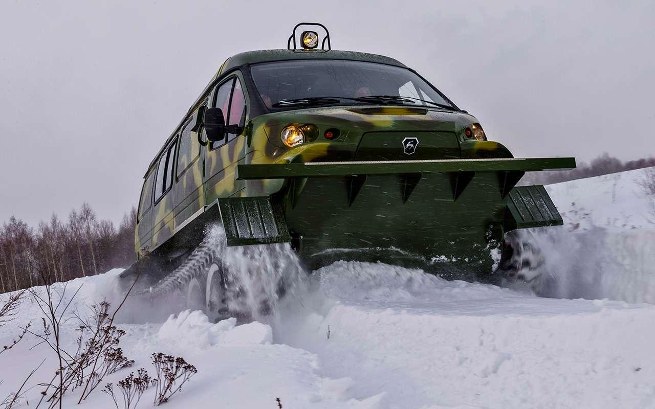 Гусеничный Ирбис: тест снегоболотохода напрочность— фото 961065