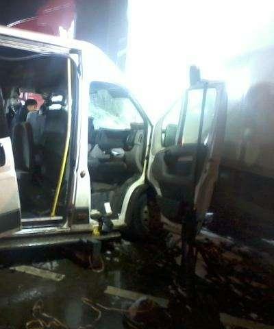 В Москве восемь человек пострадали вДТП маршрутного такси игрузовика