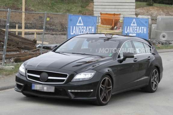Mercedes-Benz CLS 63AMG Shooting Break test prototype side-front view