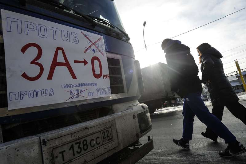 Truck drivers protest inNovosibirsk