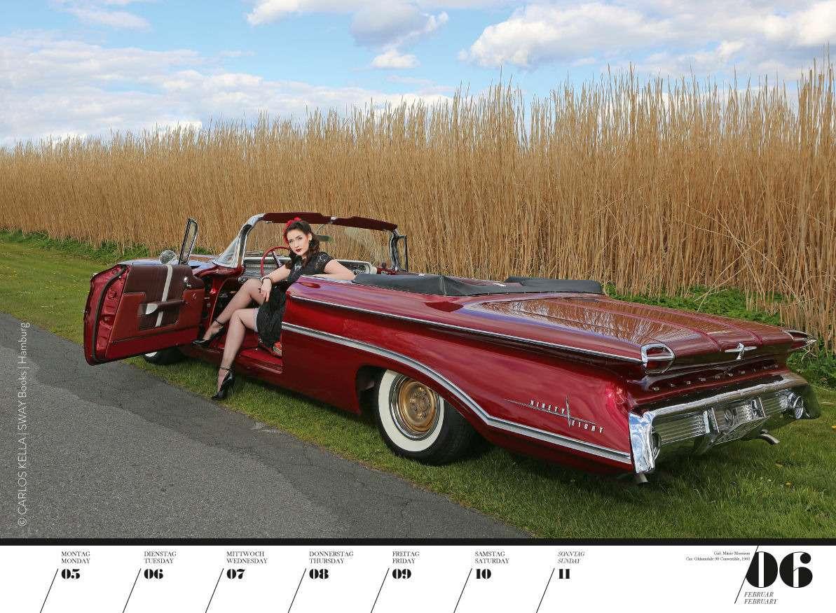 Юбилейный пин-ап календарь: девушки илегендарные машины— фото 798214