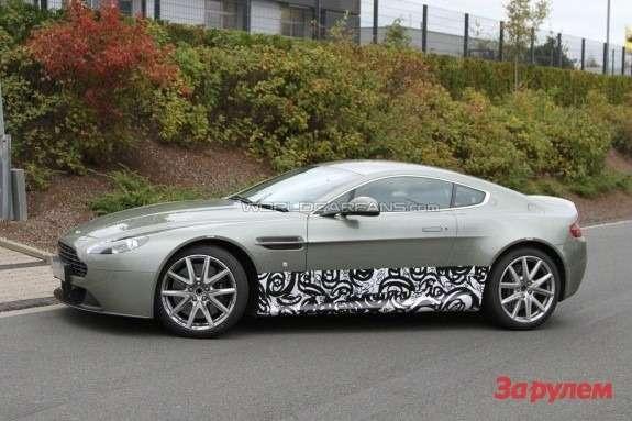 Aston Martin Vantage mule side view