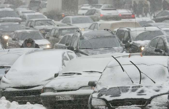 снегопад вМоскве