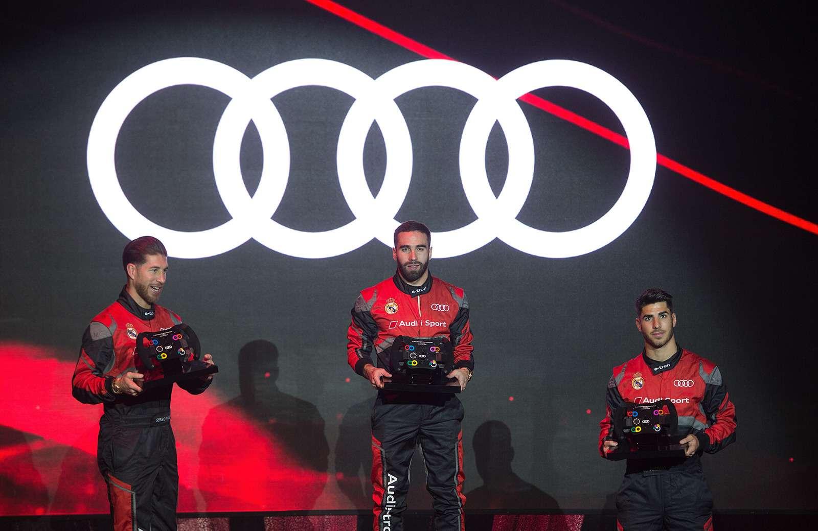 Вотэто спонсор! Audi раздала футболистам «Реала» машины— фото 819838