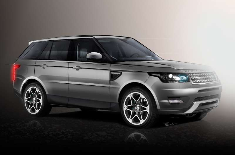 New Range Rover Sport rendering by Autocar side-front view_no_copyright