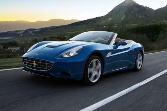 Ferrari California side-front view