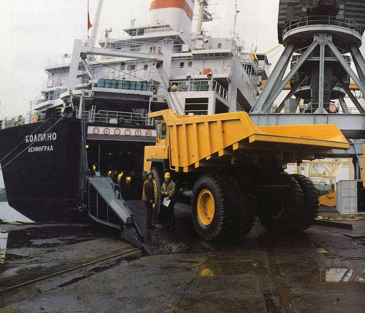 В 1989 году американская Global Technology Group закупила 25самосвалов БелАЗ-7523