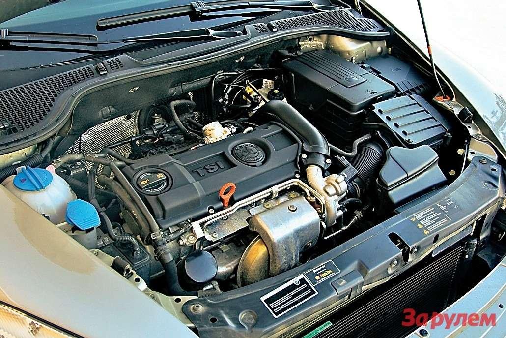 Бензиновый TSI «Октавии» оснащен турбонаддувом инепосредственным впрыском, которые обеспечивают максимальный момент 200Н.мвдиапазоне 1500-4000 об/мин. Ими весьма эффективно распоряжается 7-ступенчатый робот DSG.