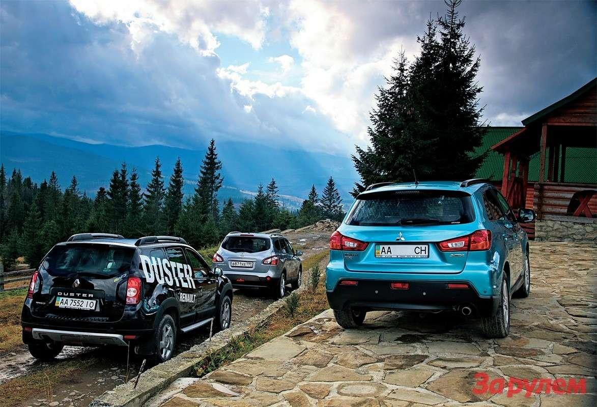Renault Duster, Mitsubishi ASX, Nissan Qashqai +2