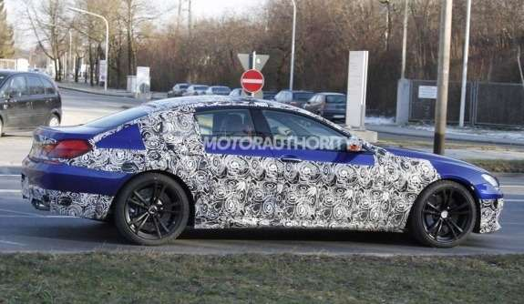 BMWM6Gran Coupe test prototype side view