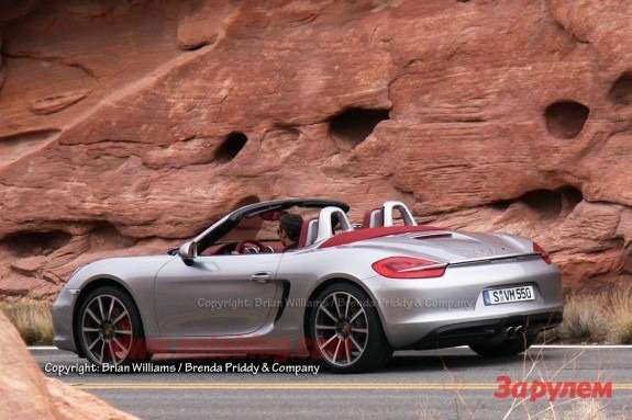 New Porche Boxster side-rear view