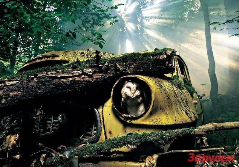 Теме рециклинга нашлось место вимиджевой рекламе автопроизводителей. Так призывает утилизировать машины «Шкода».