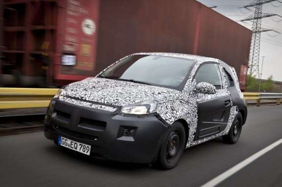 Opel Adam test prototype side-front view