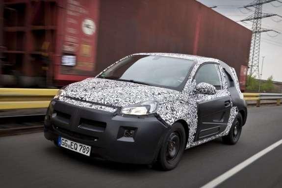 Opel Adam test prototype side-front view