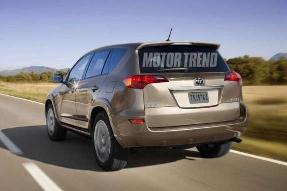 Next Toyota RAV4 rendering by Motor Trend side-rear view