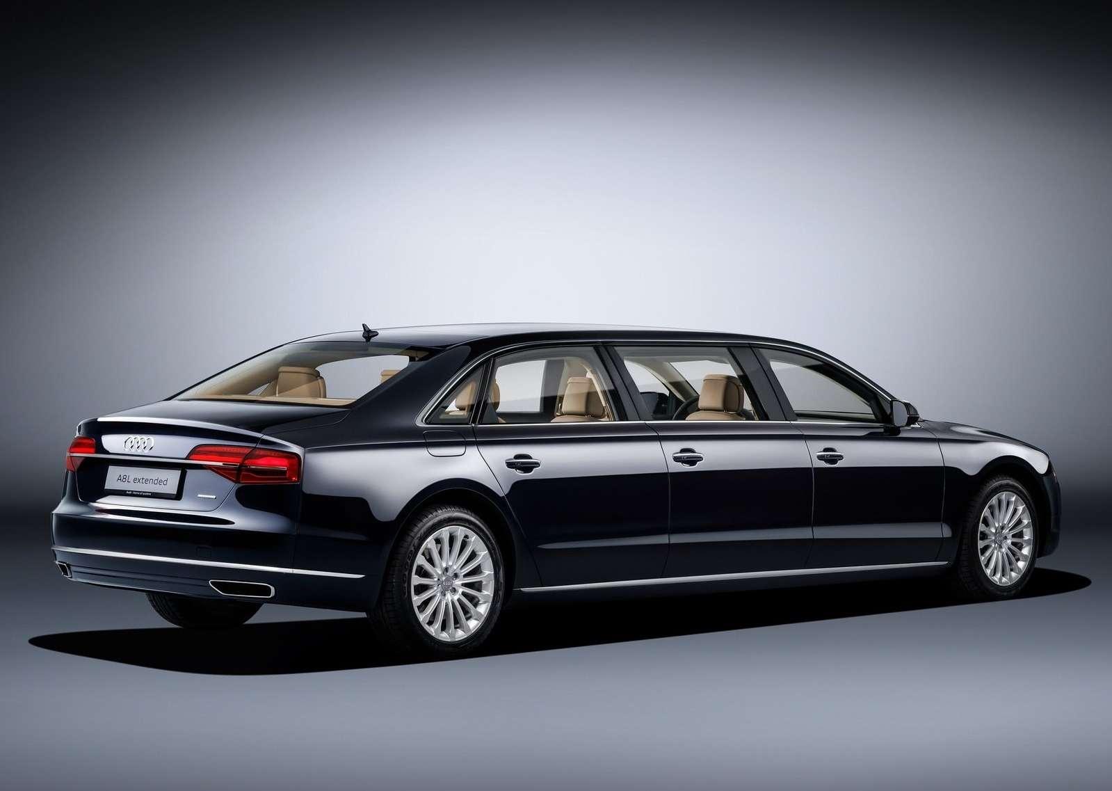 «Автобус» класса люкс: Audi A8растянулся вугоду королевским запросам— фото 574391